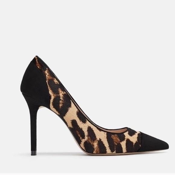 Zara Shoes | Leopard Print Pumps Heels